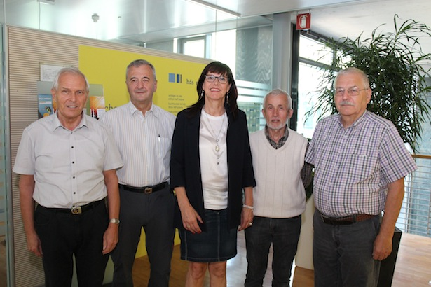 Peter Hillebrand,  Karl Zambaldi, Christine Fuchsberger, Alois Niklaus und Josef Windisch (v.l.).