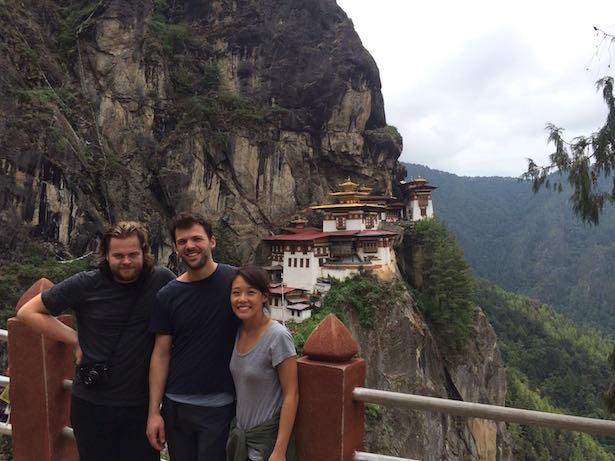 Jakob Zeller mit Magnus Nilsson in Bhutan