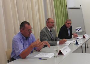 V.l. Josef Stricker, Werner Steiner, Werner Atz