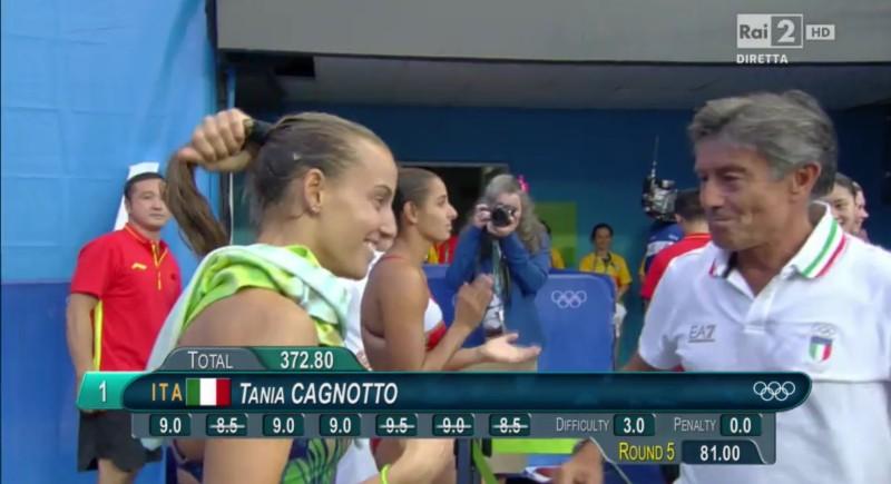 Tania Cagnotto mit ihrem Vater Giorgio