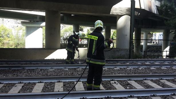 Die Feuerwehr am Schauplatz des Unglücks (Foto: FF Klausen)