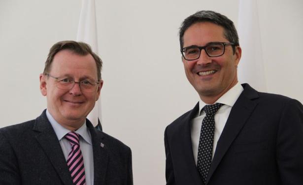 Ministerpräsident Bodo Ramelow mit LH Arno Kompatscher