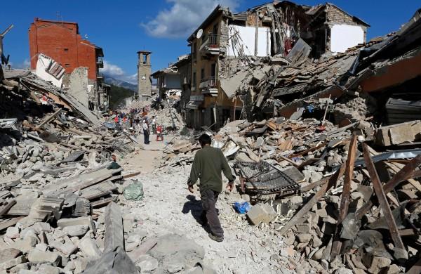 Erdbebengebiet in Mittelitalien