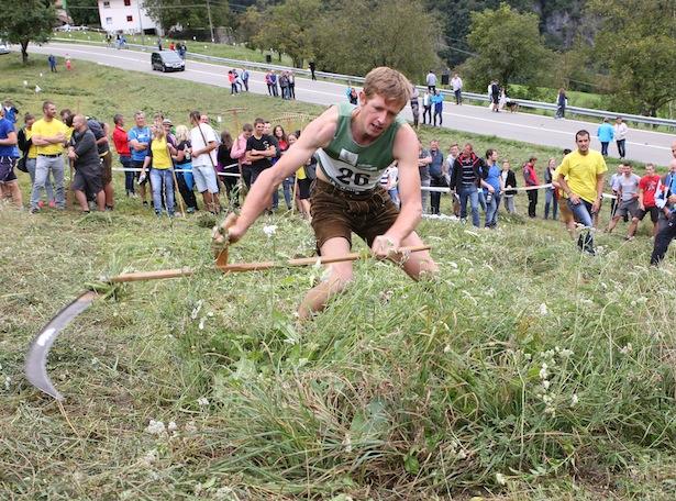 Viel Kraft und Ausdauer bewies Daniel Lanziner aus Kastelruth