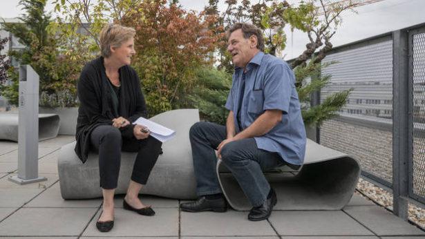 Lorenz Gallmetzer im Interview mit (Fotos: Kurier/Nagy)