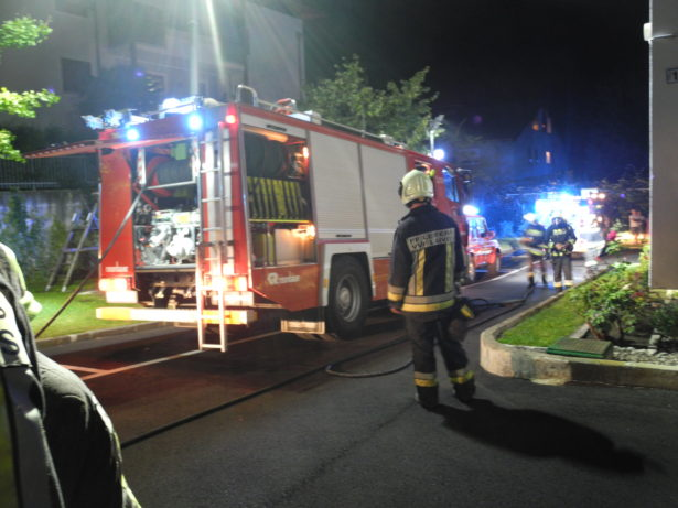 Der Feuerwehreinsatz (Fotos: FF Leifers)