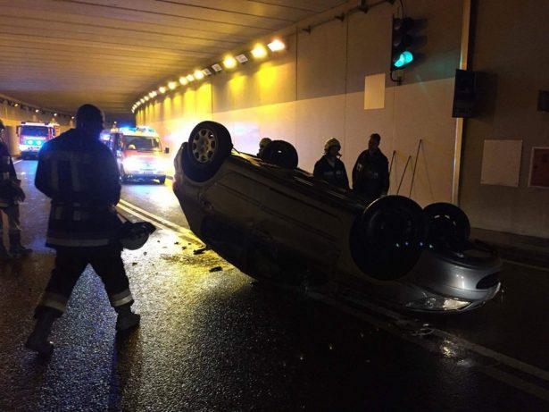 Der Unfall im Tunnel (Foto: FF St. Michael/Eppan)