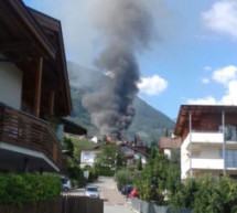 Großbrand in Tscherms