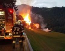Großbrand in Ulten