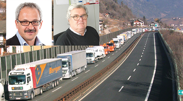 lkw Lastwagen Stau  Foto Leonhard  Angerer