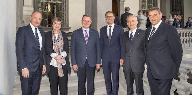 Stefan Pan, Jutta Wolke, Bodo Ramelow, LH Arno Kompatscher, Michl Ebner, Gottfried Schgaguler (Foto: Seehauser)
