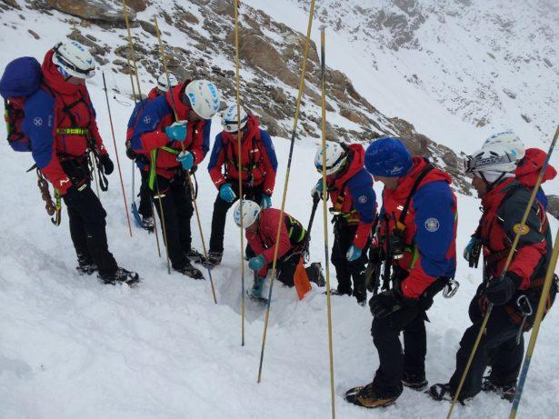Der Einsatz der Bergretter am Hochferner (Fotos: Bergrettung Sterzing)