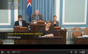 Stillen im Parlament