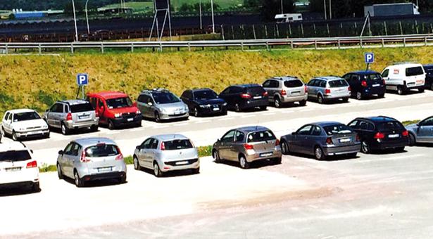 autos parkplatz