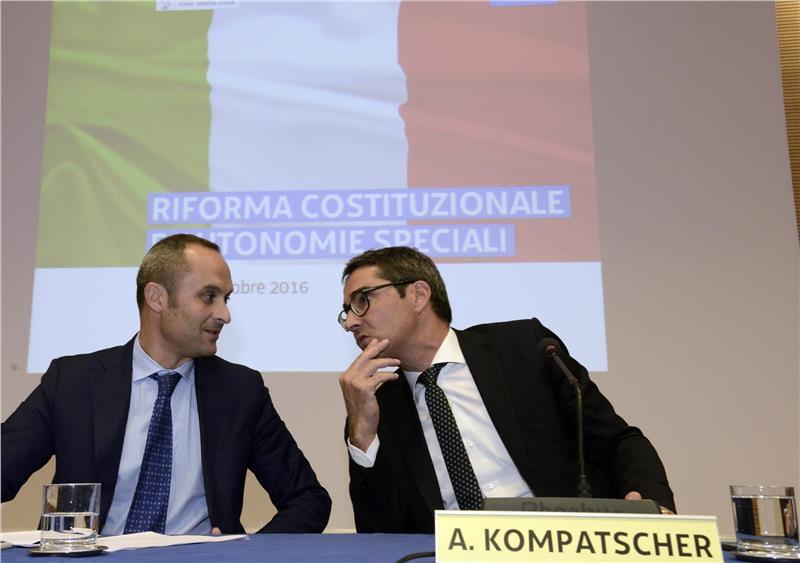 Minister Enrico Costa und LH Arno Kompatscher