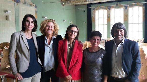 Jutta Perkmann, Elke Fritz, Christa Messner, Michaela Erschbamer und Hubert Messner