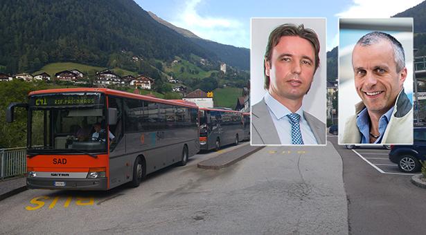 SAD und LiBUS fahren in Passeier gleichzeitig – Ingemar Gatterer und Markus Silbernagl