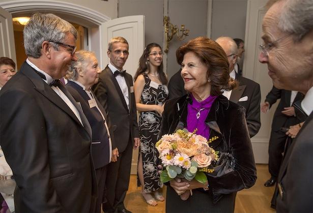 Der Brixner Unternehmer mit Königin Silvia