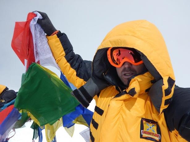 Eumir Martinelli auf dem Gipfel des Cho Oyu