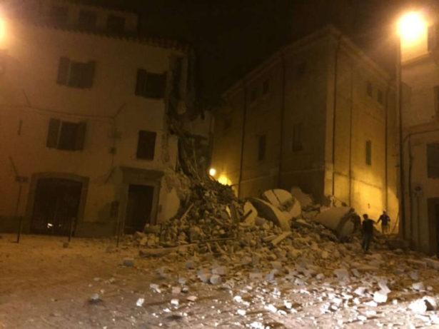 Erdbebenschäden in Visso (Fotos:repubblica)
