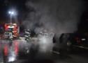 Auto brennt auf MeBo