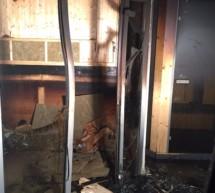 Feuer in der Sauna