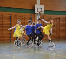 Erfolgreiche Einradfahrer