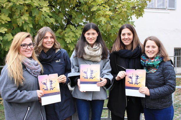 Sara, Gloria, Nadia und Franziska von der Projektgruppe