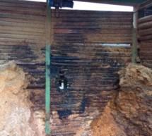 Brand im Holzspänelager