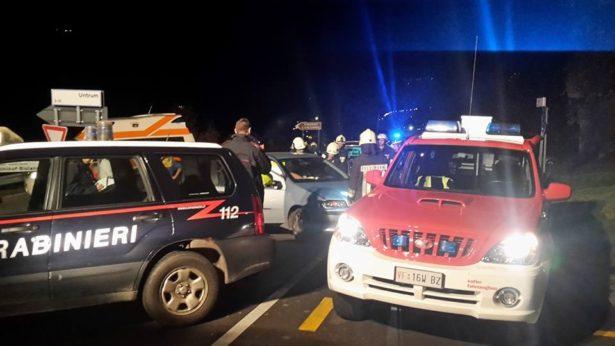 Der Unfall (Fotos: FF Feldthurns)