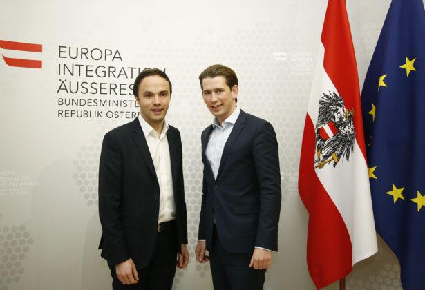SVP-Chef Achammer mit Minister Kurz
