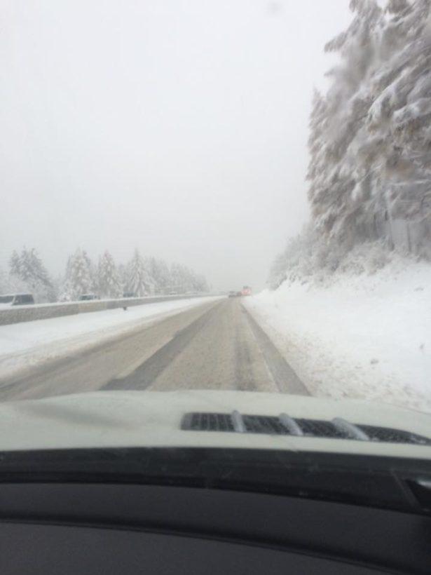 Schneefall am Sonntag am Brenner