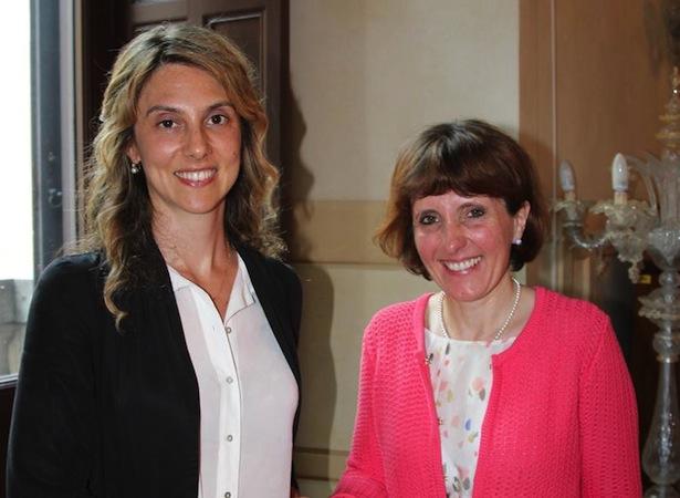 Landesrätin Deeg mit Ministerin Marianna Madia