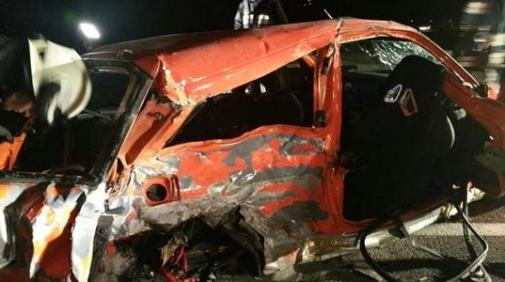 Der zerstörte Fiat Punto (Foto: FF Goldrain)