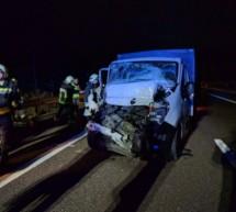 Crash auf Autobahn