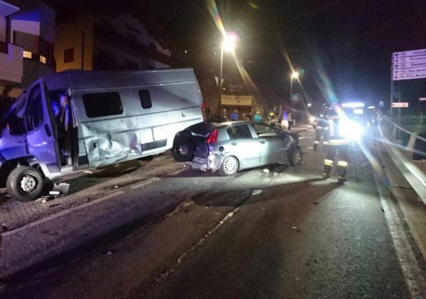 Der Unfall (Fotos: FF St. Christina)