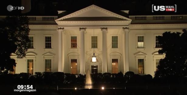 Das Weiße Haus: Der künftige Arbeitsplatz von Donald Trump (alle Fotos: Screenshots/ZDF)