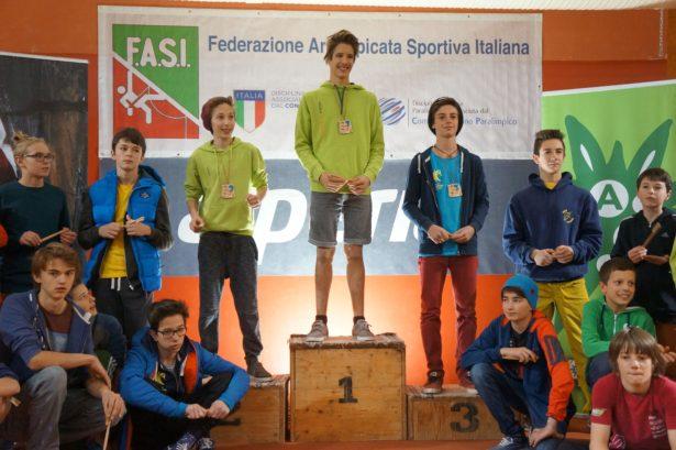 Das Podium des U16-Bewerbs (Foto: Manuel Stuflesser)