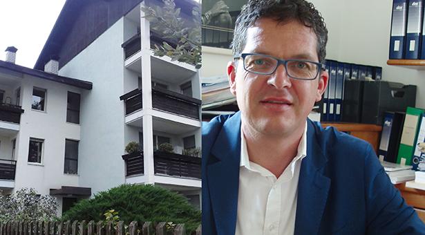 Das WoBi-Kondominium in Lana, WoBi-Chef Heiner Schweigkofler