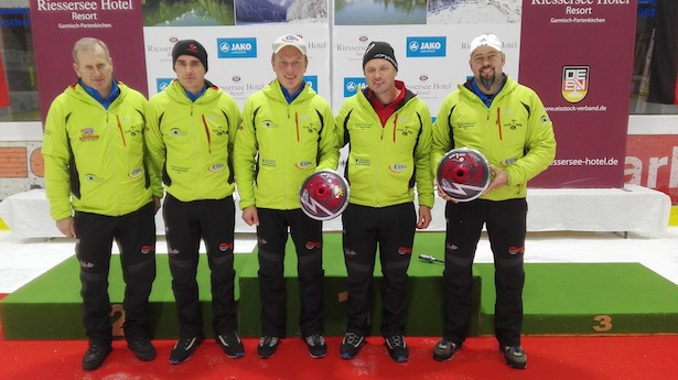 Die Mannschaft des SSV Pichl-Gsies: Josef Rauter, Reinhold Oberhammer, Klaus Panzenberger, Peter Sinner, Gottlieb Wurzer