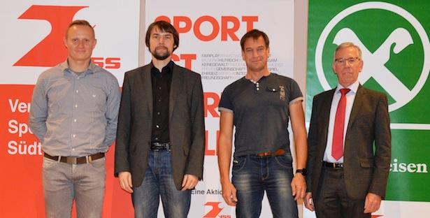 Mattias Schnitzer, Gerd Thienes, Hanspeter Gubelmann und VSS-Obmann Günther Andergassen.