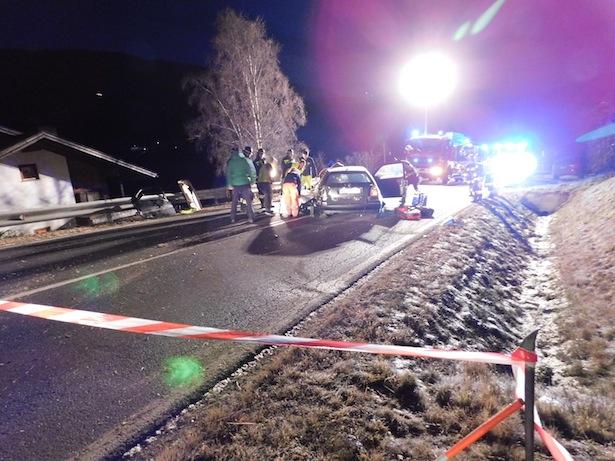 Der Unfall (Fotos: FF Welsberg)