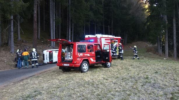 Der Unfall vom Mittwoch (Foto: FF Mühlwald)