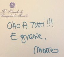 Ciao Matteo