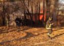 Brennende Baracken