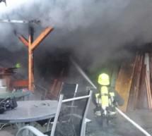 Brand in Pobitzer-Mühle