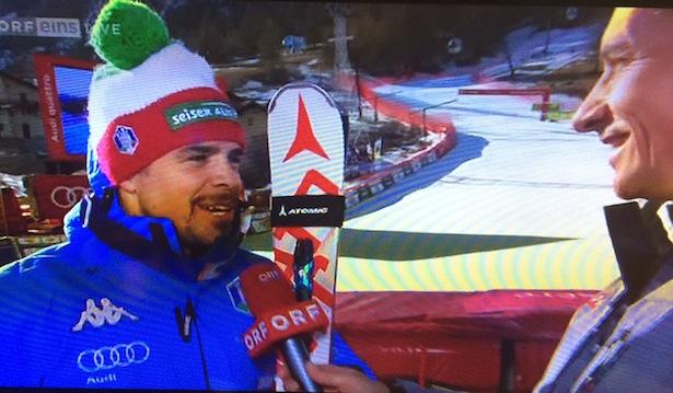 Peter Fill im Interview mit dem ORF nach dem Rennen (Screenshot/Orf)