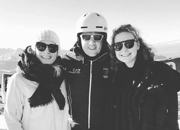 Helena und Anna Lageder mit Matteo Renzi