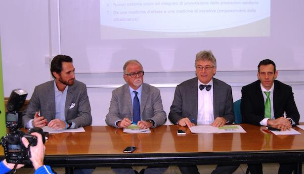 Matteo Bonvicini, Roland Döcker, Thomas Schael und Luca Armanaschi