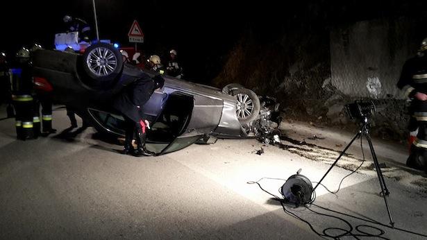Der Unfall (Fotos: FF Welschnofen)